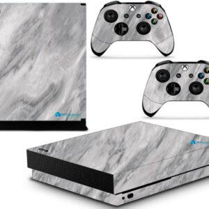 Adesivo Skin Xbox One X Pelicula Marmore Carrara