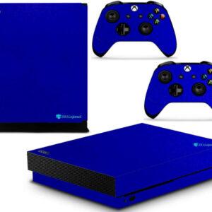Adesivo Skin Xbox One X Pelicula Metalico Brilho Azul