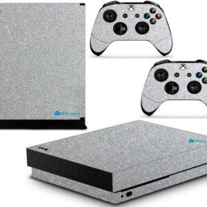 Adesivo Skin Xbox One X Pelicula Metalico Brilho Cinza