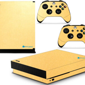 Adesivo Skin Xbox One X Pelicula Metalico Brilho Gold