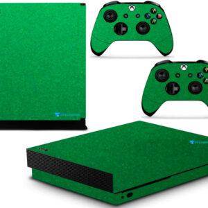 Adesivo Skin Xbox One X Pelicula Metalico Brilho Verde