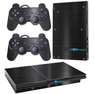 Adesivo Skin Playstation 2 Slim PS2 V1 Pelicula Dark Escovado