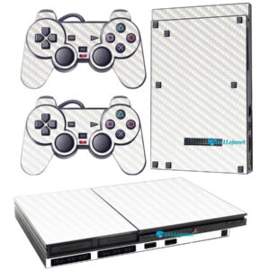 Adesivo Skin Playstation 2 Slim PS2 V1 Pelicula Fibra Transparente
