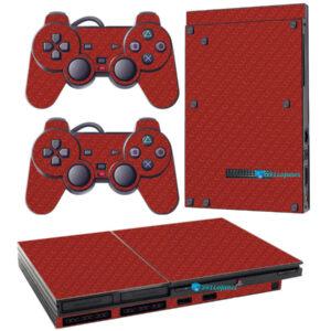 Adesivo Skin Playstation 2 Slim PS2 V1 Pelicula Fibra Vermelho.jpg