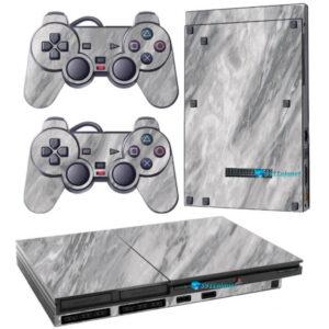 Adesivo Skin Playstation 2 Slim PS2 V1 Pelicula Marmore Carrara