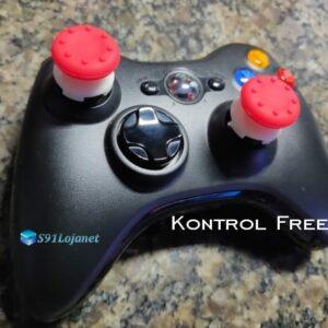 Kontrol Freek Analogico Controle Xbox 360 FPS Shooter Tiro Extensor Protetor Grip Cor Vermelho
