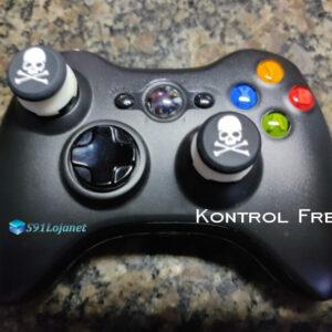 Kontrol Freek Analogico Controle Xbox 360 FPS Shooter Tiro Extensor Protetor Grip Skull Branco