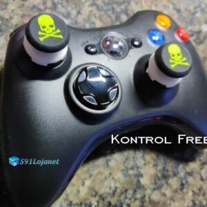 Kontrol Freek Analogico Controle Xbox 360 FPS Shooter Tiro Extensor Protetor Grip Skull Verde
