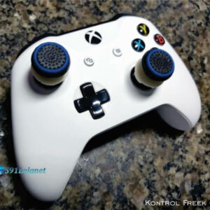 Kontrol Freek Analogico Controle Xbox One FPS Shooter Tiro Extensor Protetor Grip Bola Azul