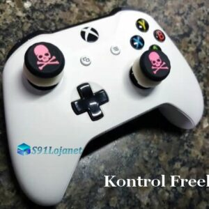Kontrol Freek Analogico Controle Xbox One FPS Shooter Tiro Extensor Protetor Grip Skull Rosa