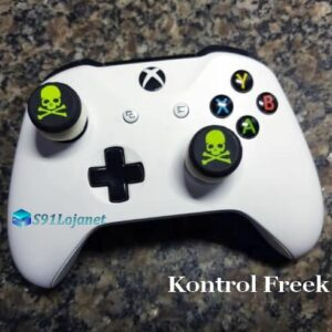 Kontrol Freek Analogico Controle Xbox One FPS Shooter Tiro Extensor Protetor Grip Skull Verde