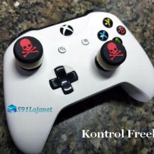 Kontrol Freek Analogico Controle Xbox One FPS Shooter Tiro Extensor Protetor Grip Skull Vermelho