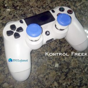 Kontrol Freek Analogico Controle PS4 FPS Shooter Tiro Extensor Protetor Grip Cor Azul