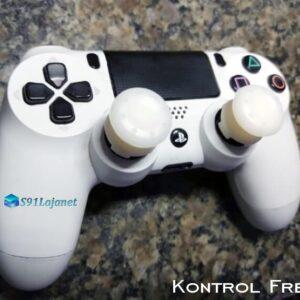 Kontrol Freek Analogico Controle PS4 FPS Shooter Tiro Extensor Protetor Grip Cor Branco