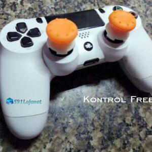 Kontrol Freek Analogico Controle PS4 FPS Shooter Tiro Extensor Protetor Grip Cor Laranja
