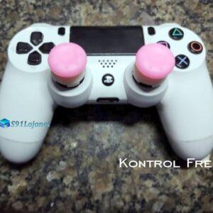 Kontrol Freek Analogico Controle PS4 FPS Shooter Tiro Extensor Protetor Grip Cor Rosa