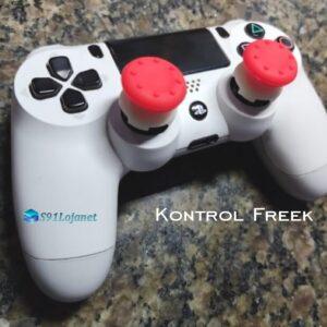 Kontrol Freek Analogico Controle PS4 FPS Shooter Tiro Extensor Protetor Grip Cor Vermelho
