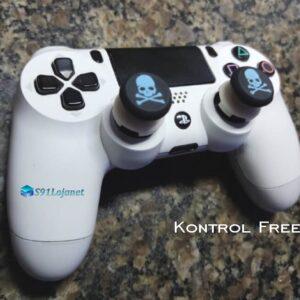 Kontrol Freek Analogico Controle PS4 FPS Shooter Tiro Extensor Protetor Grip Skull Azul